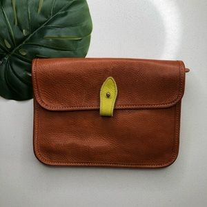 Roots Vegetable Tanned Genuine Leather Crossbody